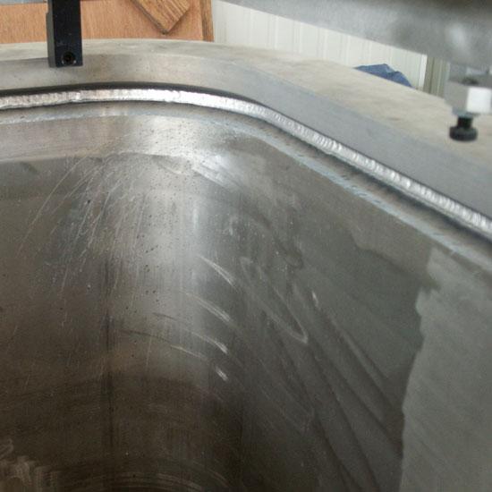 Quadrangular aluminum stitch welding